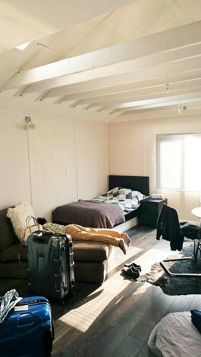 天井が高くて気持ちいい!旅の疲れもしっかりいやせます。