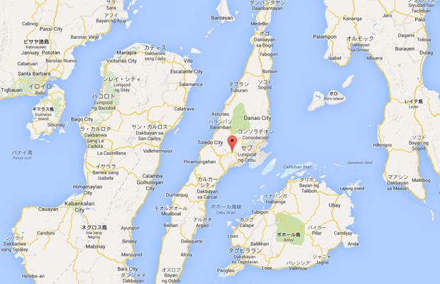 セブ島のgoogleマップ