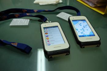 この装置、学校が生徒さんのために独自開発したものなんだそうですよ。