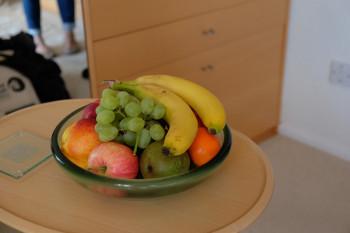 フレッシュフルーツまで用意していただき感激。